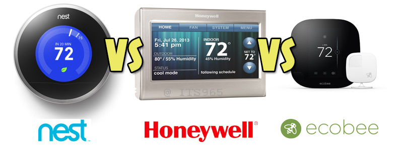 Nest, Honeywell, Ecobee Comparison